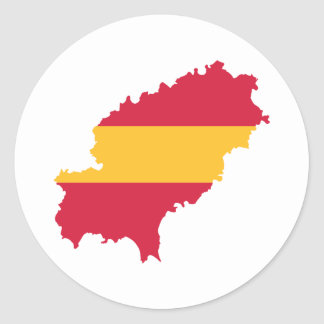 Ibiza map flag Spain Round Sticker