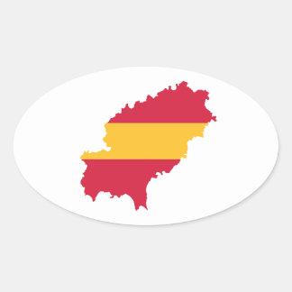 Ibiza map flag Spain Sticker