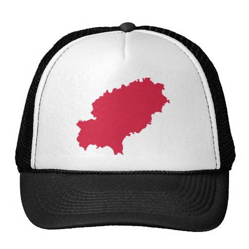 Ibiza map mesh hat