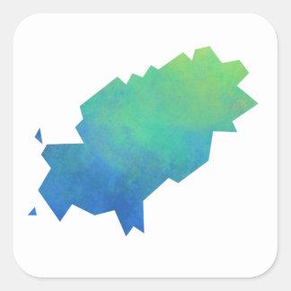 Ibiza Map Square Sticker