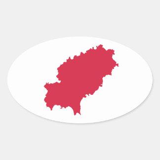 Ibiza map sticker