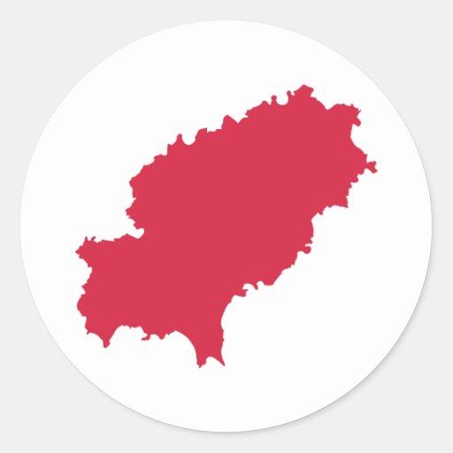 Ibiza map stickers