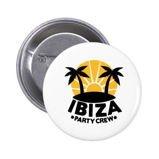Ibiza Party Crew Button