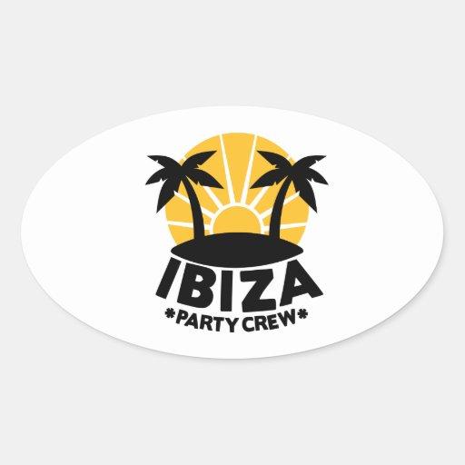 Ibiza Party Crew Oval Sticker