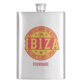 IBIZA Spain custom monogram flask