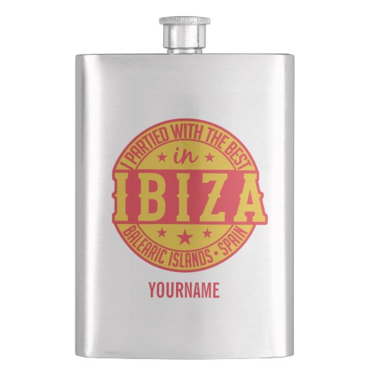 IBIZA Spain custom monogram flask