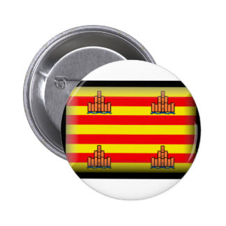 Ibiza Spain Flag 2 Inch Round Button