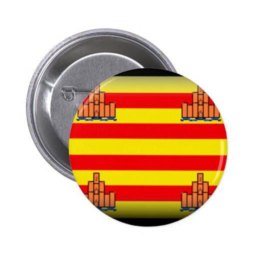 Ibiza (Spain) Flag Pinback Buttons