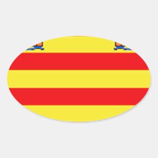 Ibiza (Spain) Flag Oval Sticker