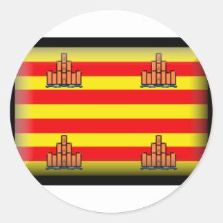 Ibiza Spain Flag Round Sticker