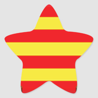 Ibiza (Spain) Flag Star Sticker