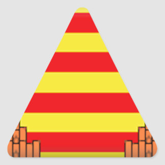 Ibiza (Spain) Flag Triangle Stickers