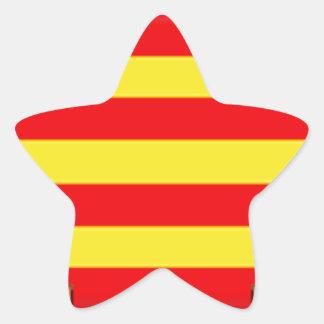 Ibiza (Spain) Flag Star Stickers