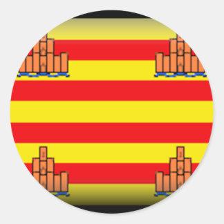 Ibiza (Spain) Flag Round Stickers