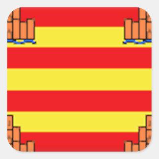 Ibiza (Spain) Flag Square Sticker