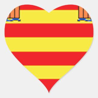 Ibiza (Spain) Flag Heart Sticker
