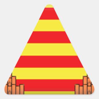 Ibiza (Spain) Flag Triangle Sticker