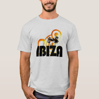 ibiza summer sun design dj t-shirt