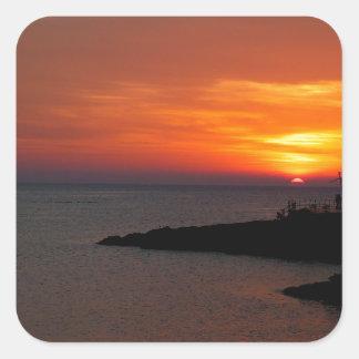 Ibiza Sunset Square Sticker