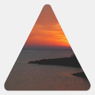 Ibiza Sunset Triangle Sticker