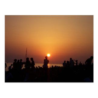 Ibiza Sunset Strip Postcard