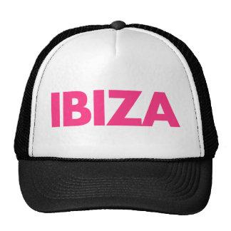 Ibiza Text Mesh Hats