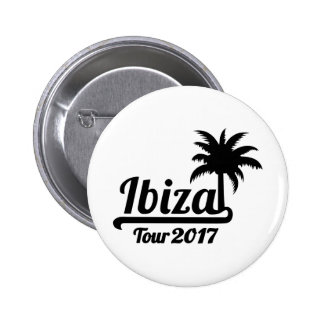 Ibiza Tour 2017 2 Inch Round Button