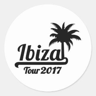 Ibiza Tour 2017 Classic Round Sticker