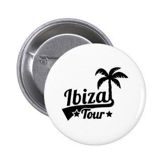 Ibiza tour 2 inch round button