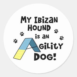 Ibizan Hound Agility Dog Classic Round Sticker