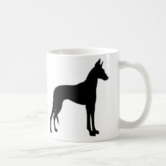 Ibizan Hound (black) Coffee Mug