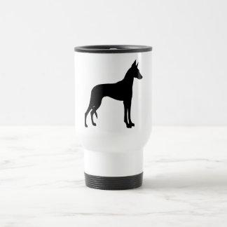 Ibizan Hound (black) Travel Mug