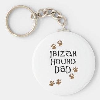 Ibizan Hound Dad Basic Round Button Keychain