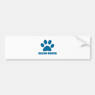 IBIZAN HOUND DOG DESIGNS BUMPER STICKER