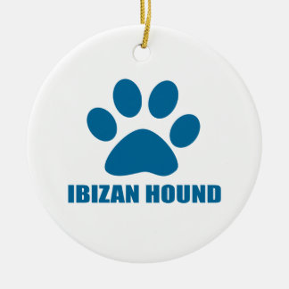 IBIZAN HOUND DOG DESIGNS CERAMIC ORNAMENT