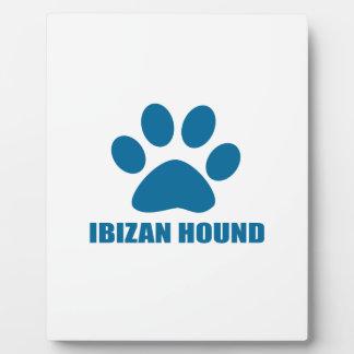 IBIZAN HOUND DOG DESIGNS PLAQUE
