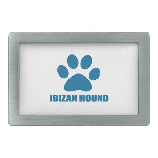 IBIZAN HOUND DOG DESIGNS RECTANGULAR BELT BUCKLE