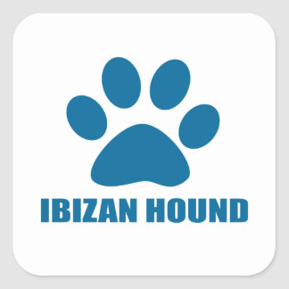 IBIZAN HOUND DOG DESIGNS SQUARE STICKER