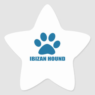 IBIZAN HOUND DOG DESIGNS STAR STICKER