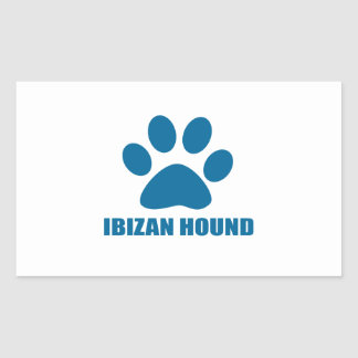 IBIZAN HOUND DOG DESIGNS STICKER