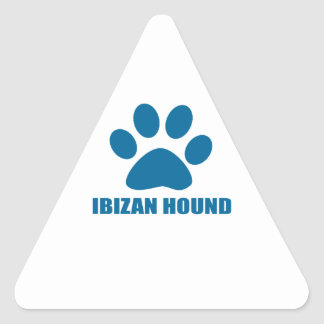 IBIZAN HOUND DOG DESIGNS TRIANGLE STICKER