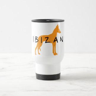 Ibizan Hound (gold w/ text) Travel Mug