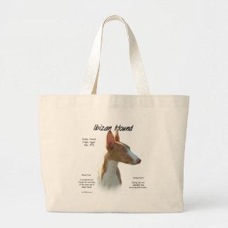 Ibizan Hound History Design Large Tote Bag
