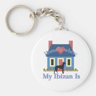 Ibizan Hound Home Is Basic Round Button Keychain
