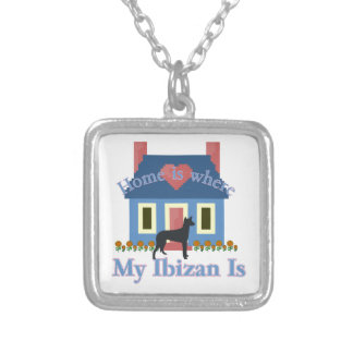 Ibizan Hound Home Is Silver Plated Necklace