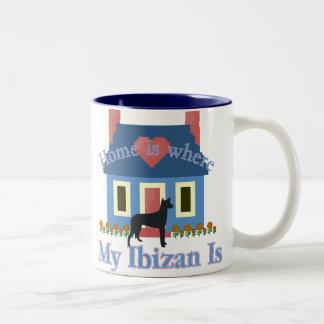 Ibizan Hound Home Is Two-Tone Coffee Mug
