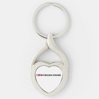 ibizan hound love keychain