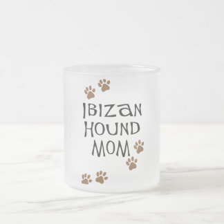 Ibizan Hound Mom Frosted Glass Coffee Mug