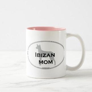 Ibizan Hound Mom Two-Tone Coffee Mug