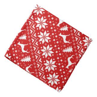 Ibizan Hound Silhouettes Christmas Pattern Red Bandana